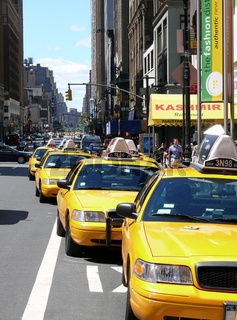 Yellow Cabs in New York
