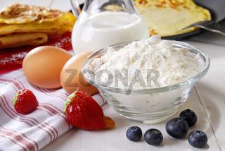 Zutaten für Pfannkuchen