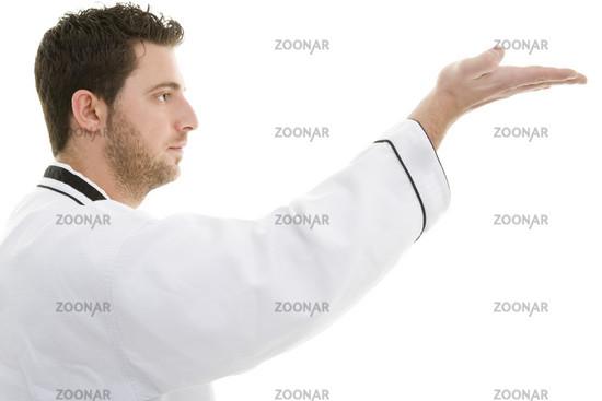 Handkantenschlag im Profil