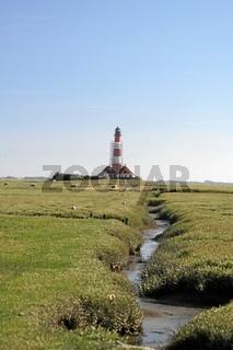 Vorland mit Leuchtturm, Nordsee