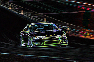 Drifting at night