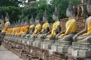 Galerie von sitzenden Buddha Statuen