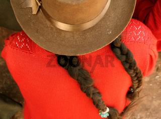 Frau mit Hut, Peru