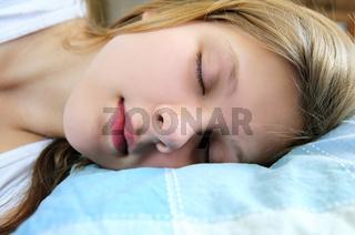 Teenage girl sleeping