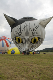 hot air balloon, heissluftballon, balloon flight, ballonfahrt, Katzenaugen
