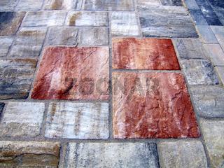 Pflaster, Natursteinplatten
