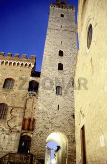 San Gimignano medieval town Tuscany Italy