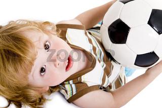Fußball festhalten