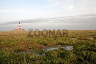 Herbstfarben Westerhever, autumn lighthouse