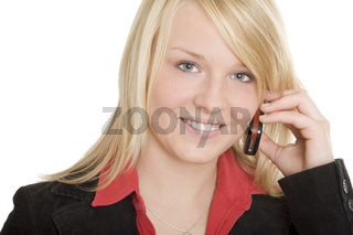 Teenager telefoniert