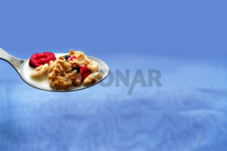 Spoon of cereal