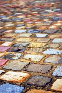 Colorful cobblestones
