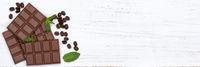 Schokolade Milchschokolade Tafel Süßigkeiten Banner Essen Textfreiraum von oben