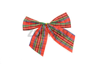 Red checkered bow