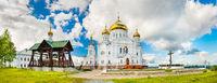 Belogorsky Monastery in Perm Krai, Russia. Panorama