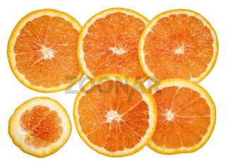 fresh orange slices background