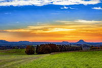 Sunset in the National Park Saxon Switzerland