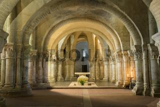Crypt in Saintes France