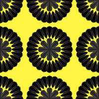 Sunflower Ripe Black Seed Seamless Pattern