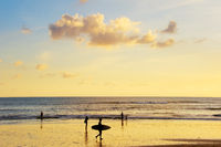 People on Bali island beach
