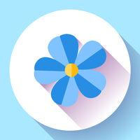 Frangipani flower icon Nature symbol - flower Vector