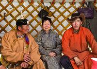 Zu Hause bei mongolischen Hirten, Region Erdenet, Mongolei