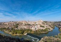 Panoramablick auf Toledo in Spanien