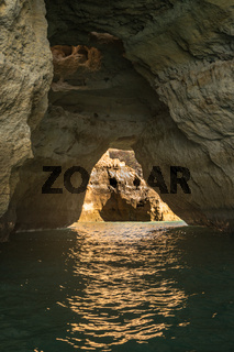 Beautiful cave in the Algarve