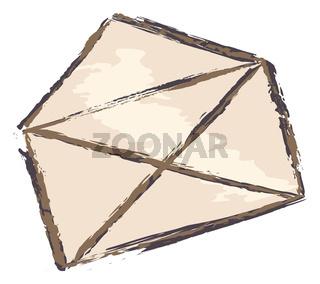 simple brown envelope sketch