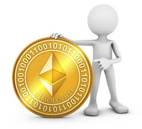 man with ethereum