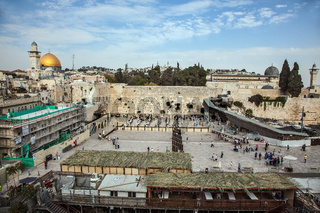 The Western Wall of the Temple between prayers