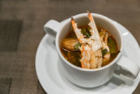 Crab tom yum soup