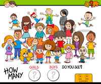 counting girls and boys educational activity