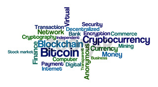 Word Cloud on a white background - Bitcoin