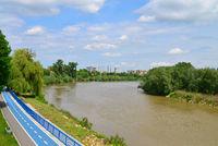 Arad city Mures river