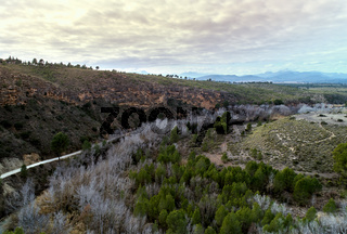 Countryside near the Santuario de la Virgen de la Esperanza in Spain