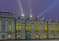 Smolny Convent with night illumination in St. Petersburg, Russia.