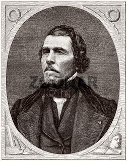 Ferdinand Victor Eugène Delacroix, 1798-1863, a French painter and muralist