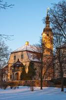 Ein Sonntagmorgen im Winter im Schlosspark Machern