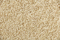 White Arborio Italian rice close up background