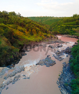 Panorama of rapids at Awash river, Ethiopia