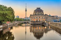 Berlin sunrise city skyline at Spree River, Berlin, Germany