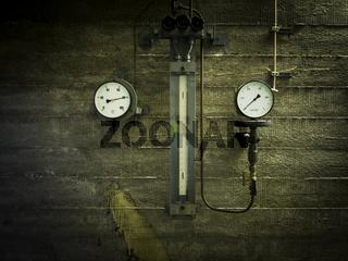 Temperatur und Druck Anzeige
