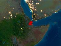 Djibouti in red at night