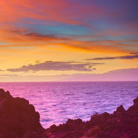 Colorful sunset seascape