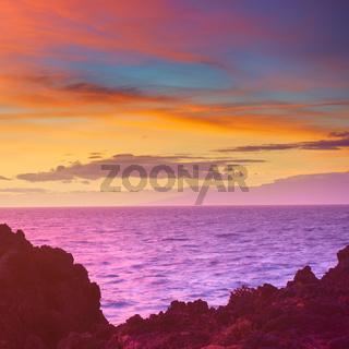 Colorful sunset seascape