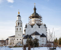 Assumption Cathedral and bell tower in Uspensky Monastery