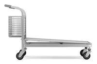 empty large shopping cart isolated on white background. 3d illustration