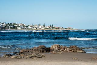 Beach in La Barra, a picturesque famous popular seaside holiday destination in Punta del Este, Uruguay