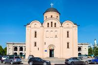 facade of Pyrohoshcha Church in Kiev city